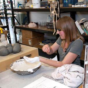 Artist Jamie Bates Slone at her Red Star Studio.