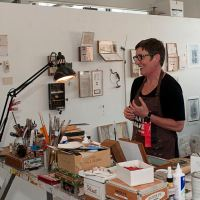 Artist Josie Osborne at her Kenilworth studio.