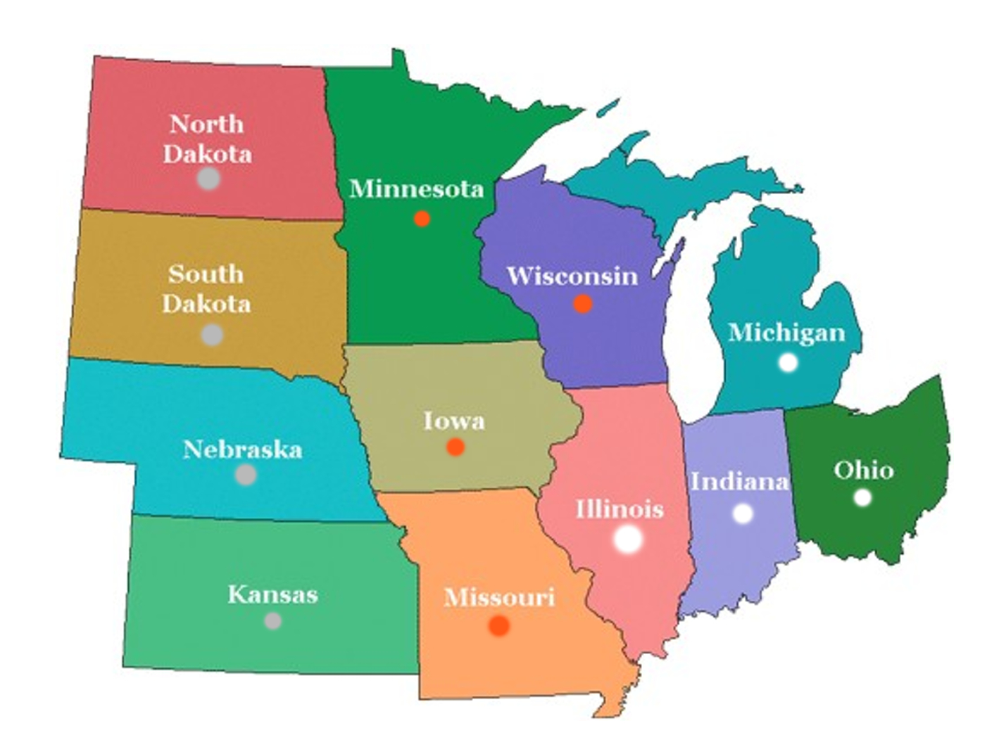Map Us Midwest Region Images Midwestern United States - Us south region map
