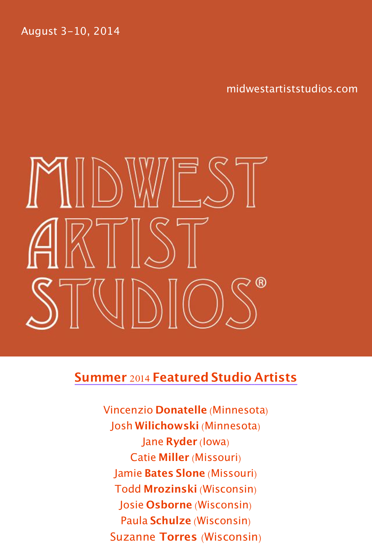 MIDWEST ARTIST STUDIOS ™ PROJECT