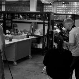 Visiting Jamie Bates Slone at her studio at Red Star Studios in Kansas City, Missouri.