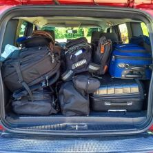 Car all packed and ready to rock-n-roll
