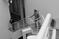 Inside the Des Moines Art Center.