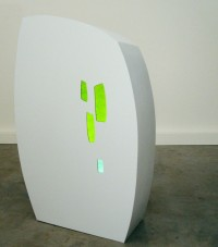 Untitled #3 , Wood, Glass, Resin and LED Lighting, 2012