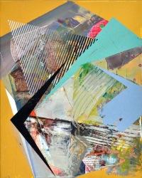 """""""Sanded Fragment"""" Acrylic on Canvas 16"""" x 20"""" 2015"""