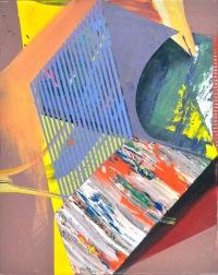 """Slice"" Acrylic on Canvas 16"" x 20"" 2015"