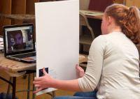 Intro art student skyping with MAS artist, Todd Mrozinski (WI)