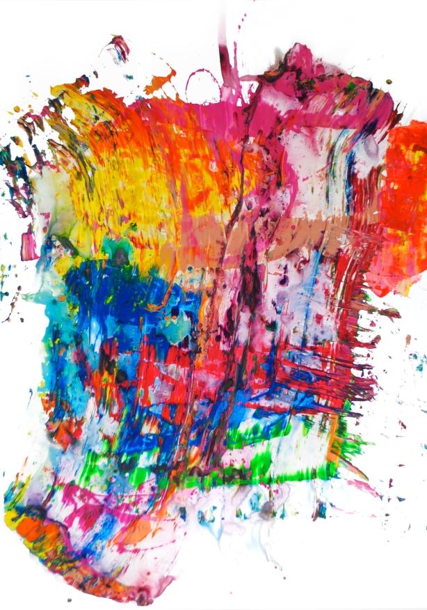 "Joe Bussell, Scrape Series 72, Acrylic, 22""x52"", 2016"