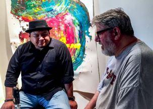 MAS founder/art educator Frank Juarez and MAS artist, Joe Bussell