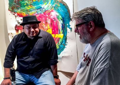 MAS founder/art educator Frank Juarez and MAS artist, Joe Bussell